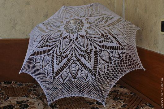 Зонты ручной работы. Ярмарка Мастеров - ручная работа. Купить Зонтик вязаный. Handmade. Белый, свадебный аксессуар, хлопок мерсеризованный