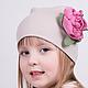 Шапки ручной работы. Детская шапочка с цветами ручной работы. Spiffy. Интернет-магазин Ярмарка Мастеров. Цветы ручной работы