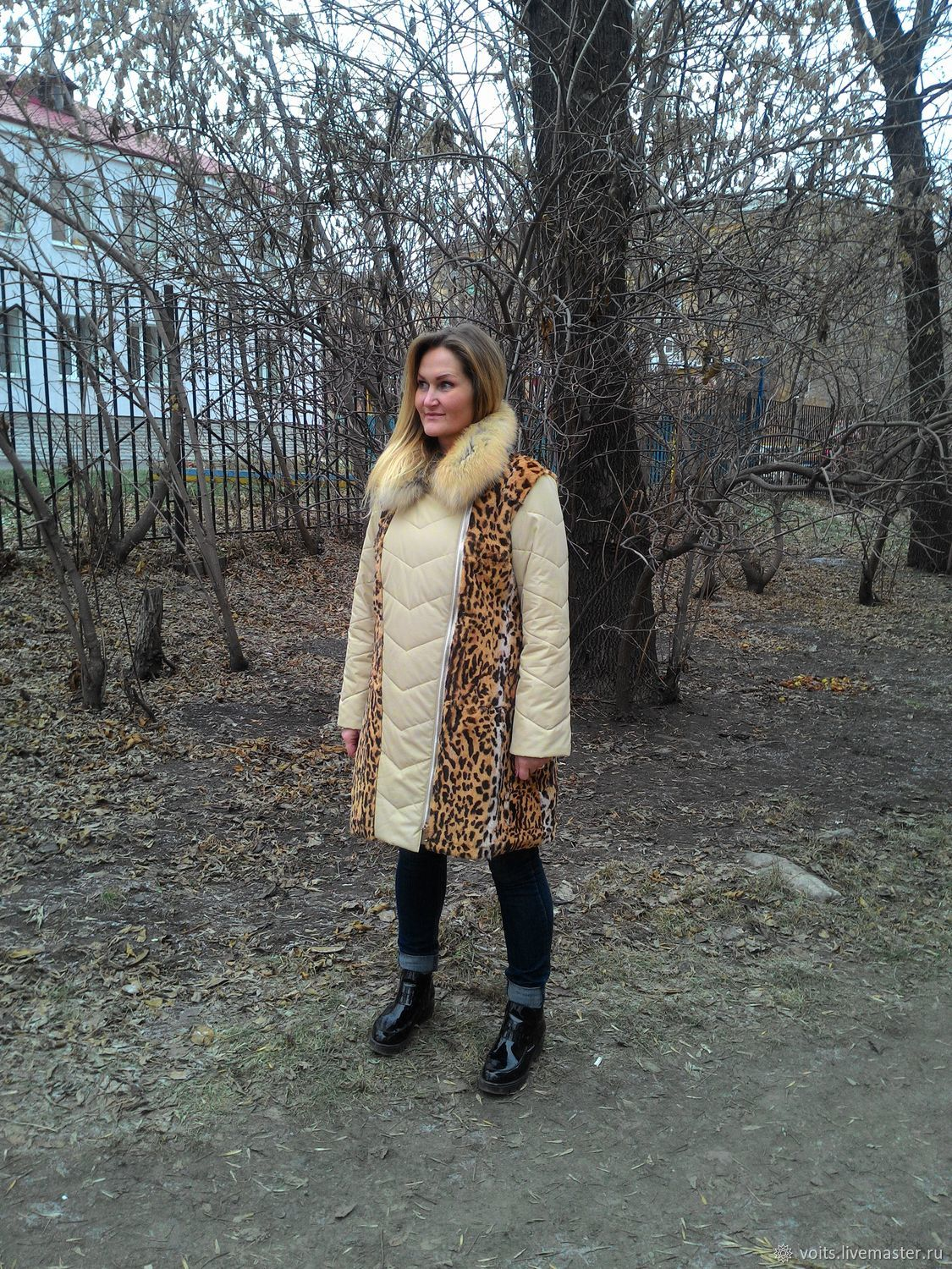 Outer Clothing handmade. Livemaster - handmade. Buy Cover, remake fur coat with leopard print.Winter jacket