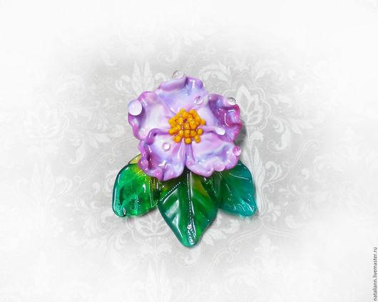"""Для украшений ручной работы. Ярмарка Мастеров - ручная работа. Купить Бусина """" Розово -сиреневый цветок"""". Handmade. Сиреневый"""