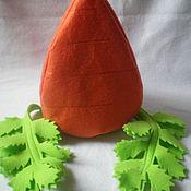 Одежда ручной работы. Ярмарка Мастеров - ручная работа Карнавальные шапки-овощи (морковь, баклажан, редиска). Handmade.