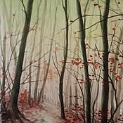 Картины и панно ручной работы. Ярмарка Мастеров - ручная работа Таинственный лес. Handmade.