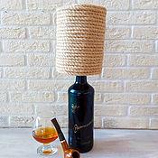 Для дома и интерьера handmade. Livemaster - original item Table Lamp Gift for Men Bottle Lamp. Handmade.