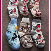 Носки ручной работы. Ярмарка Мастеров - ручная работа Носки вязаные из натуральной овечьей шерсти. Handmade.