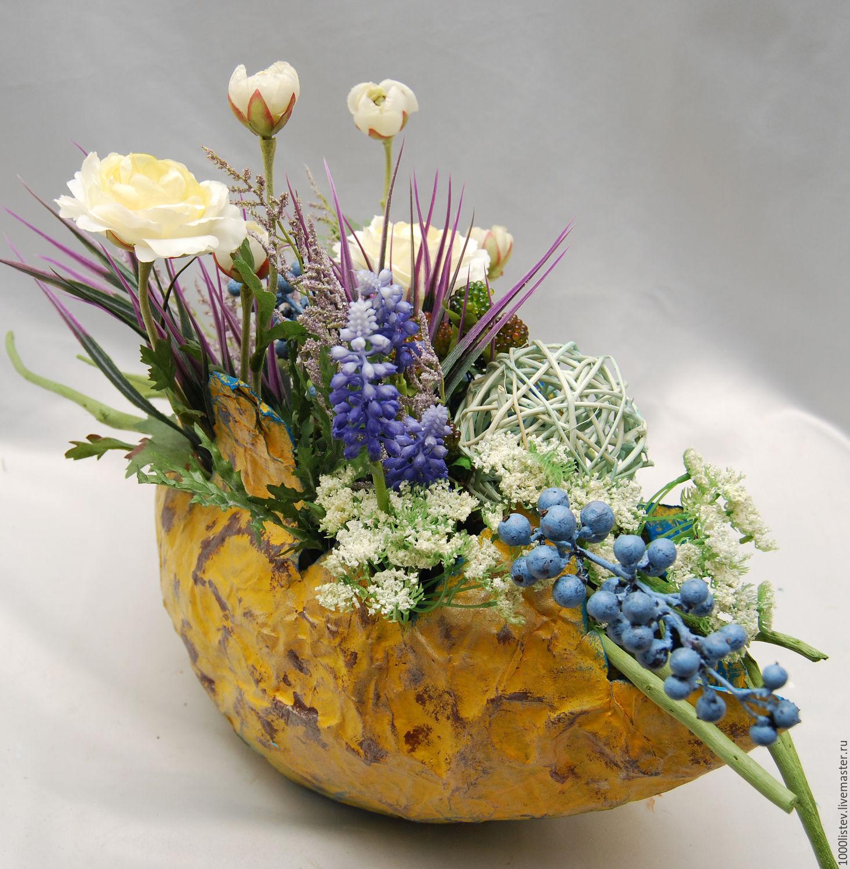 Композиции из цветов и природных материалов