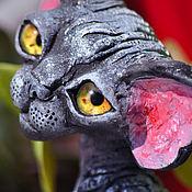 Для дома и интерьера handmade. Livemaster - original item Funky-QS. Cat Devon Rex.. Handmade.