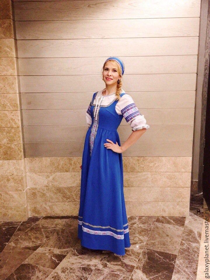 Народный женский сарафан с рубахой, Карнавальные головные уборы, Солнечногорск,  Фото №1
