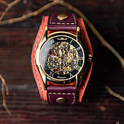 Часы наручные ручной работы. Ярмарка Мастеров - ручная работа Наручные часы Bohemian механические прозрачные. Handmade.