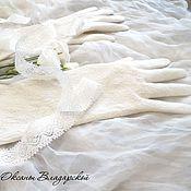 """Свадебный салон ручной работы. Ярмарка Мастеров - ручная работа Валяные свадебные перчатки """"Нежность"""". Handmade."""