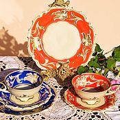 Винтаж handmade. Livemaster - original item Bright, vintage tea trios. Bavaria.Schwarzenhammer.. Handmade.