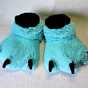 Обувь ручной работы handmade. Livemaster - original item Slippers Furry paw. Handmade.