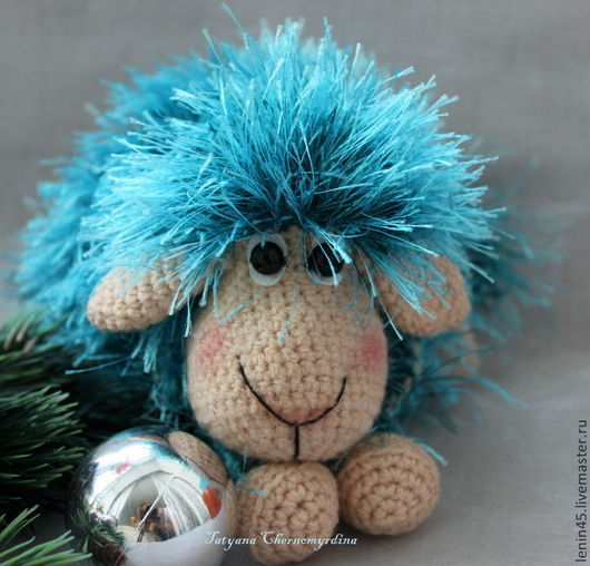 Игрушки животные, ручной работы. Ярмарка Мастеров - ручная работа. Купить Овечка синяя. Handmade. Овечка, овечка вязаная