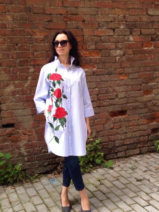 Блузки ручной работы. Ярмарка Мастеров - ручная работа. Купить Рубашка Роза. Handmade. Блузка из кружева, белая блузка
