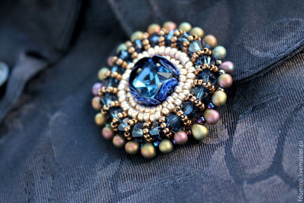 boho pia brooches brooch sapphire product buy online blue front