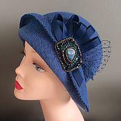 Аксессуары handmade. Livemaster - original item Hat art Nouveau blue. Handmade.