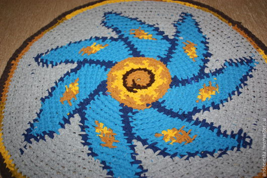 """Текстиль, ковры ручной работы. Ярмарка Мастеров - ручная работа. Купить Коврик """"Голубая мечта"""". Handmade. Голубой, прогулочный коврик"""