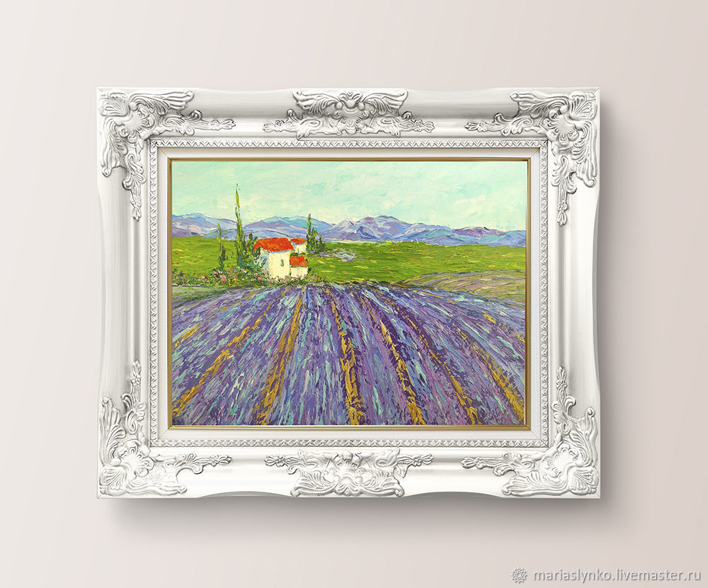 Oil painting Lavender Provence Lavender fields, Pictures, Alicante,  Фото №1
