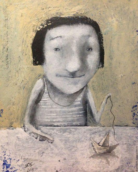 """Люди, ручной работы. Ярмарка Мастеров - ручная работа. Купить Комплект """"А девочки тоже мечтают о море, о море мечтают и о кораблях."""". Handmade."""