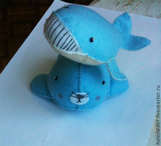 Развивающие игрушки ручной работы. Ярмарка Мастеров - ручная работа. Купить Игра - Морские обитатели. Handmade. Голубой, игрушка в подарок