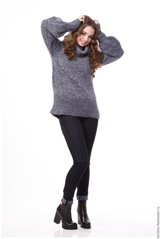Купить женский свитер с горлом