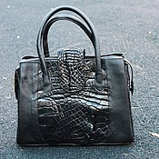 Сумки и аксессуары handmade. Livemaster - original item Classic bag: Genuine Crocodile Leather Bag Black. Handmade.
