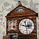Часы для дома ручной работы. Ярмарка Мастеров - ручная работа. Купить Домик для совы. Handmade. Коричневый, избушка