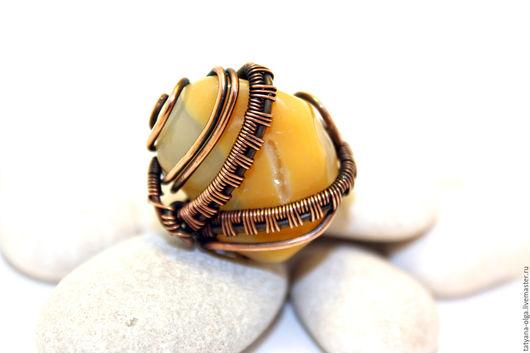 Перстень медный Горный мёд