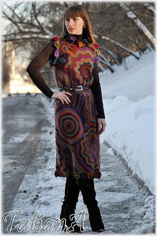 """Платья ручной работы. Ярмарка Мастеров - ручная работа. Купить Вязаное платье """"Kaleidoscope"""". Handmade. Платье, платье вязаное"""