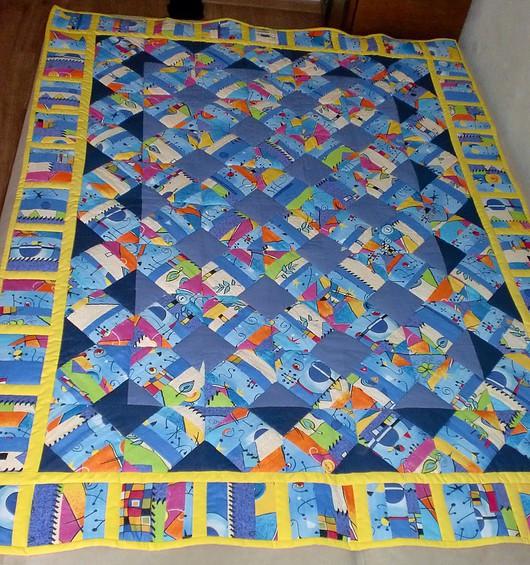 """Текстиль, ковры ручной работы. Ярмарка Мастеров - ручная работа. Купить Одеяло """"Весёлое настроение"""". Handmade. Лоскутное одеяло, пэчворк"""