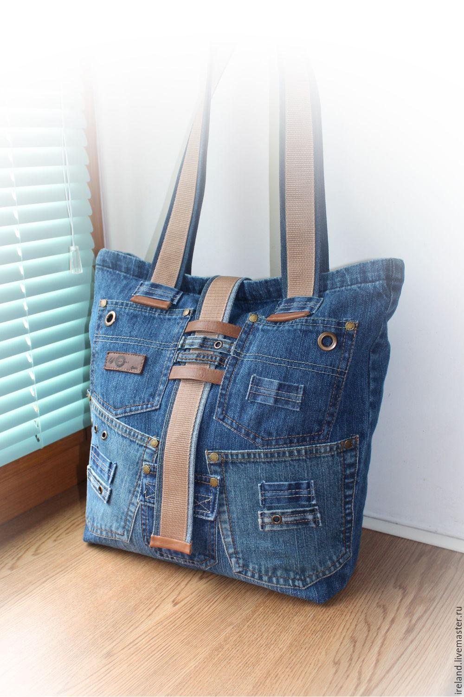 Пляжные сумки из джинса
