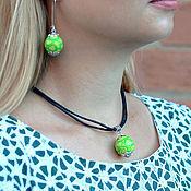 Украшения handmade. Livemaster - original item Set earrings and necklace. Handmade.