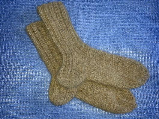 Носки, Чулки ручной работы. Ярмарка Мастеров - ручная работа. Купить Носки из собачьей шерсти мужские. Handmade. Серый