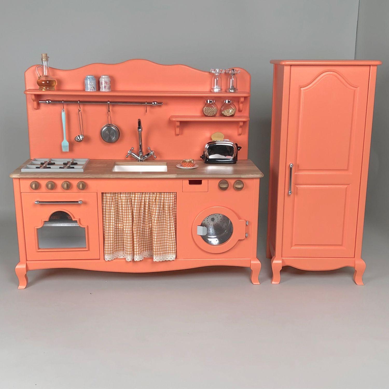 Детская ручной работы. Ярмарка Мастеров - ручная работа. Купить Детская игровая кухня с холодильником, деревянная. Handmade. Игровая кухня