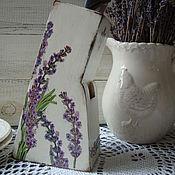 """Для дома и интерьера ручной работы. Ярмарка Мастеров - ручная работа подствка под ножи """" Лаванда"""". Handmade."""