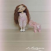 Куклы и игрушки handmade. Livemaster - original item My Pink ELEPHANT! Doll Textile Interior Copyright.. Handmade.