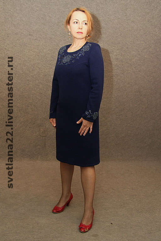 """Платья ручной работы. Ярмарка Мастеров - ручная работа. Купить Вязаное платье""""Для себя любимой"""". Handmade. Трикотажное полотно, вязаное платье"""