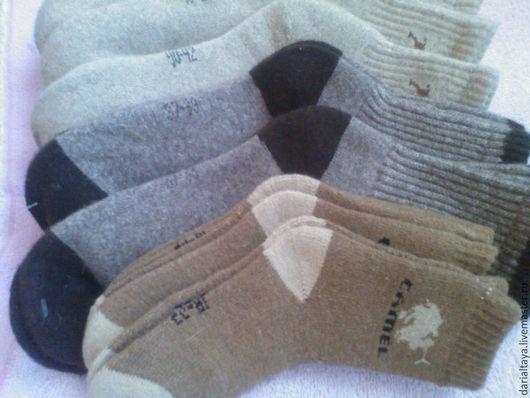 Спортивная одежда ручной работы. Ярмарка Мастеров - ручная работа. Купить носки из шерсти верблюда и яка.. Handmade. Бежевый