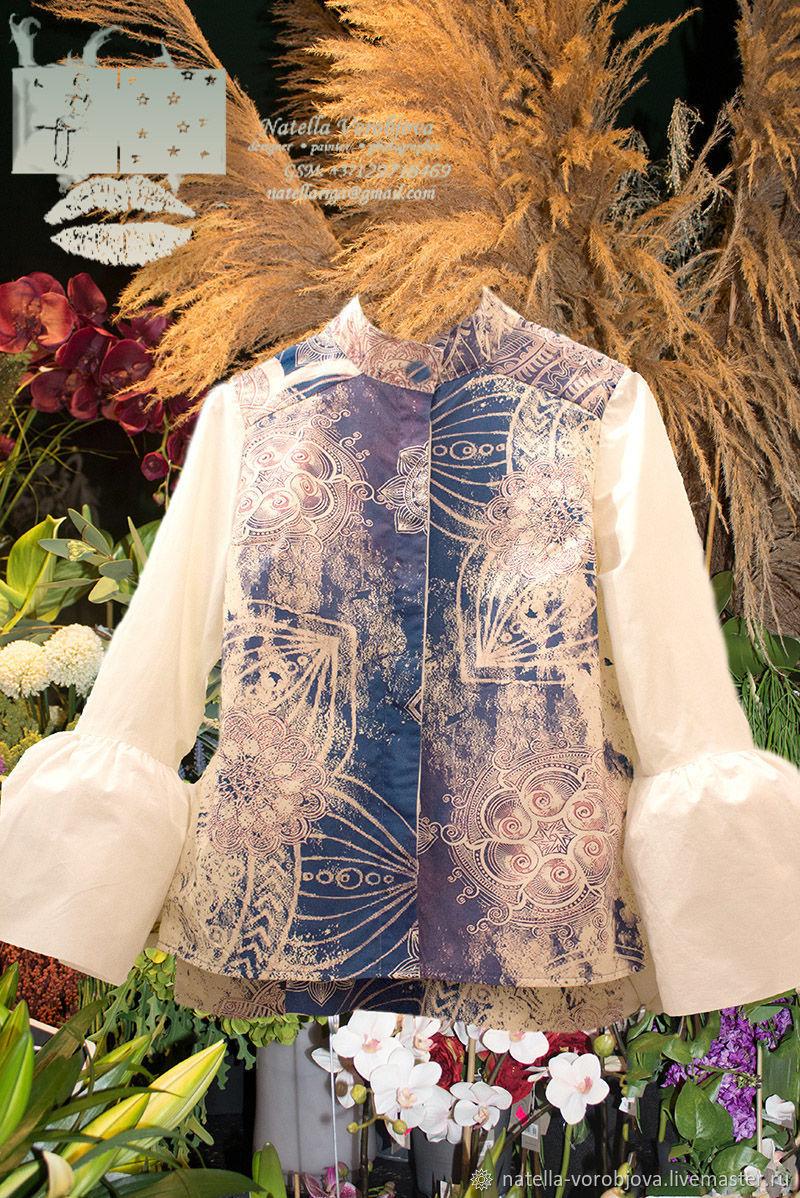 Блузки: BLUE MANTRA/MANDALA – заказать на Ярмарке Мастеров – OXMVMRU | Блузки, Рига