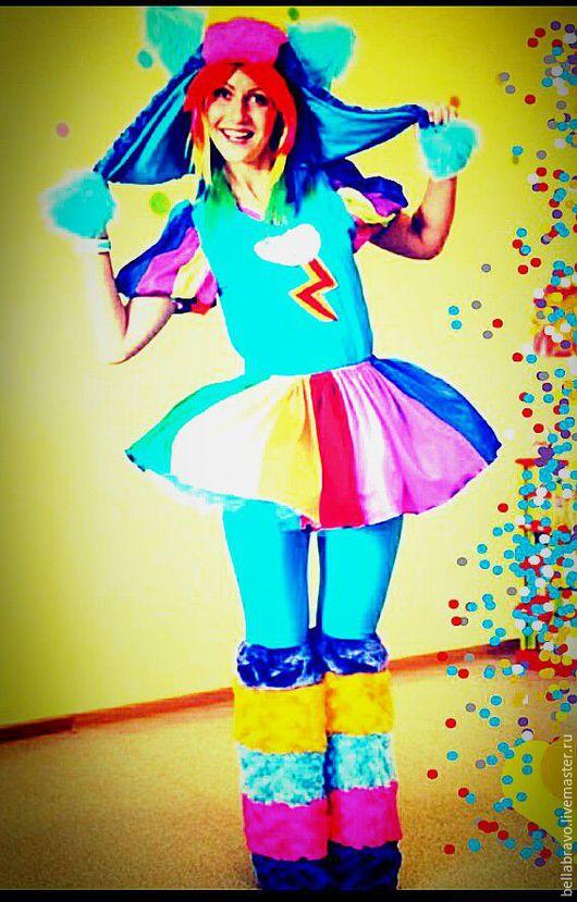 Карнавальные костюмы ручной работы. Ярмарка Мастеров - ручная работа. Купить Радкжная пони аниматорский  карнавальн костюм. Handmade. Бирюзовый