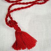 Русский стиль handmade. Livemaster - original item Braided belt - harness. Handmade.