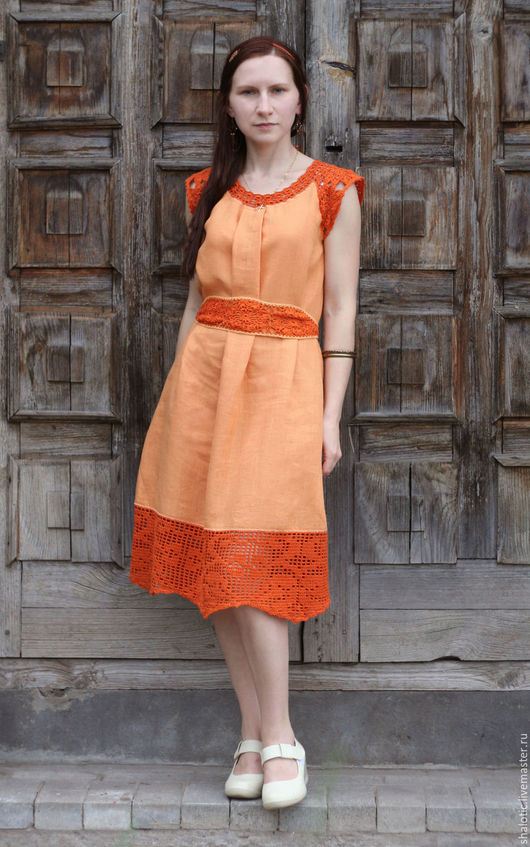 Льняное платье, платье в этно стиле, бохо платье, льняные юбки, платья и сарафаны ручной работы, автор Юлия Льняная сказка