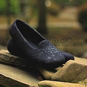 """Обувь ручной работы. Ярмарка Мастеров - ручная работа """"Коко"""" туфельки балетки валяные. Handmade."""