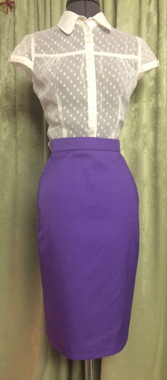 Купить фиолетовую юбку карандаш