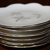 Винтаж handmade. Livemaster - original item Six porcelain jam sockets, with flowers, Germany. Handmade.