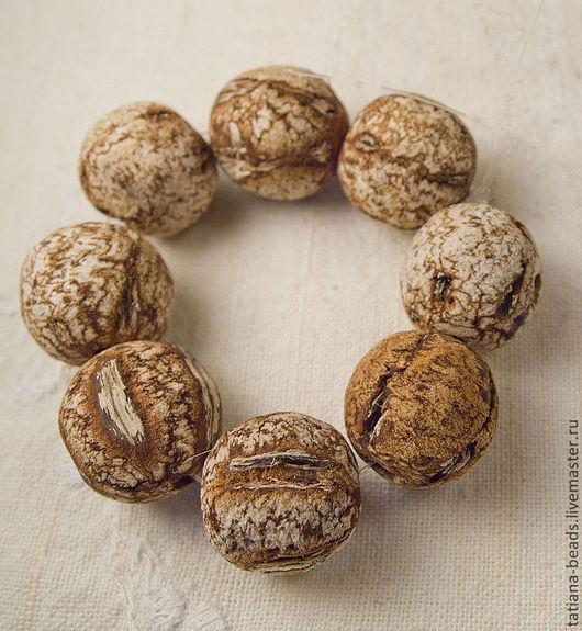 Для украшений ручной работы. Ярмарка Мастеров - ручная работа. Купить Бусины шарики коричневые из семян красного дерева 20 мм Филиппины. Handmade.