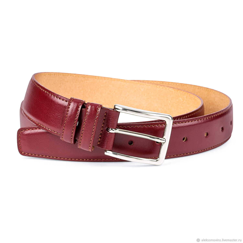 f3237552e99f бордовый ремень мужские женские ремни итальянская кожа купить в