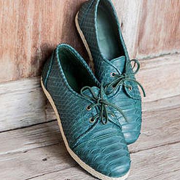 Обувь ручной работы. Ярмарка Мастеров - ручная работа Ботинки из кожи питона . Кожаные ботинки. Handmade.