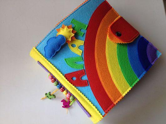 Развивающие игрушки ручной работы. Ярмарка Мастеров - ручная работа. Купить Книжка из фетра. Handmade. Развивающая книжка, молния