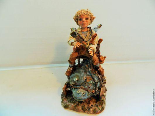 Коллекционные куклы ручной работы. Ярмарка Мастеров - ручная работа. Купить Большое путешествие маленького эльфа Тимоши. Handmade. Бежевый