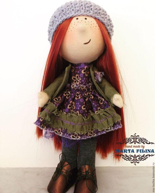 Коллекционные куклы ручной работы. Ярмарка Мастеров - ручная работа. Купить Кукла Тыквоголовка. Handmade. Тёмно-зелёный, кукла интерьерная
